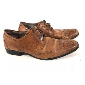 Stacy Adams Mens Leather Wingtip Oxford Shoe 8.5M